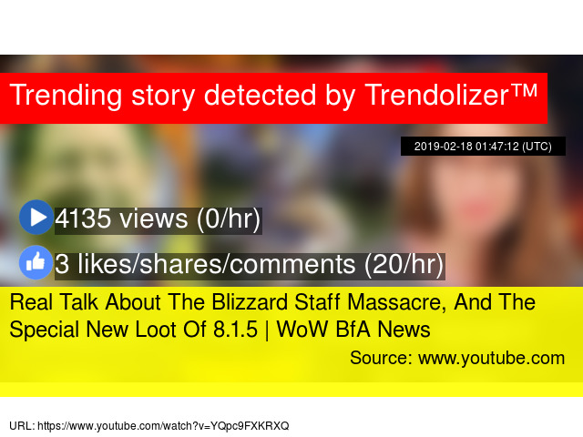 Real Talk About The Blizzard Staff Massacre, And The Special