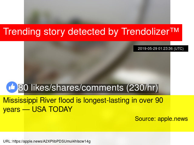 Mississippi River flood is longest-lasting in over 90 years
