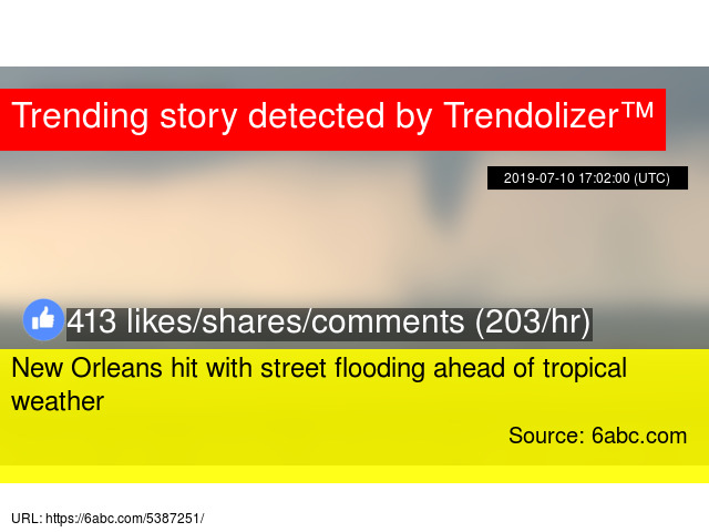 New Orleans hit with street flooding ahead of tropical weather