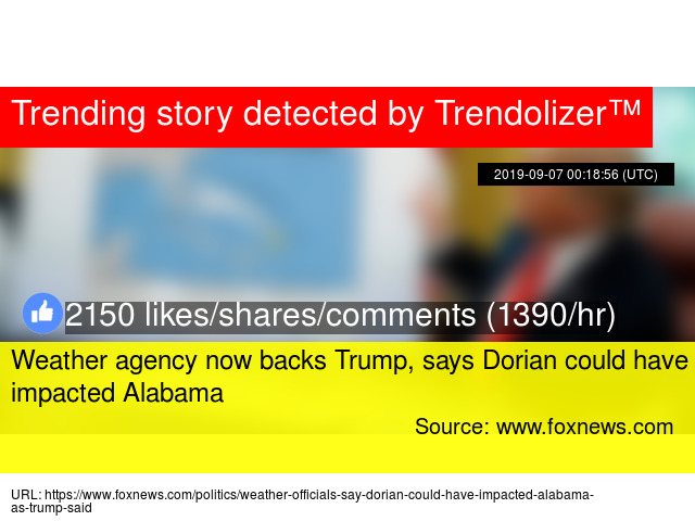 Weather agency now backs Trump, says Dorian could have