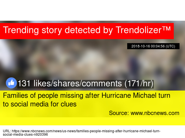 Families Turn To Social Media With >> Families Of People Missing After Hurricane Michael Turn To